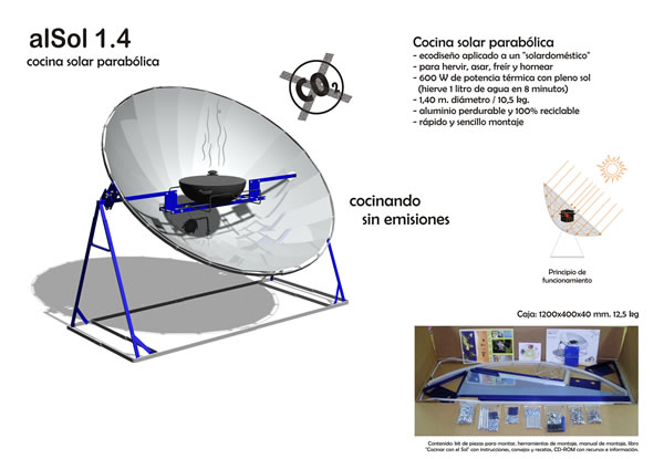 La cocina solar for Planos para cocina solar parabolica